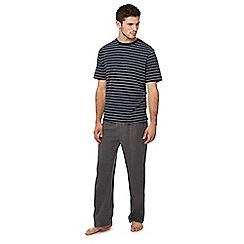 Lounge & Sleep - Navy striped pyjama set
