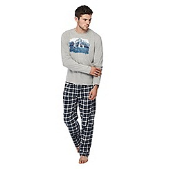 Lounge & Sleep - Grey checked pyjama set