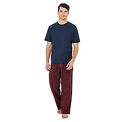 Lounge & Sleep - Navy striped pyjama set