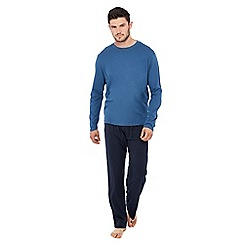 Lounge & Sleep - Blue jersey pyjama set