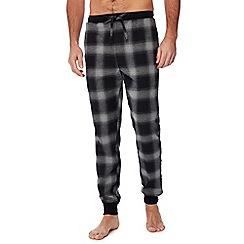 Lounge & Sleep - Grey ombre-effect checked pyjama bottoms