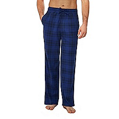 Lounge & Sleep - Blue checked print pyjama bottoms
