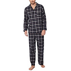 Lounge & Sleep - Navy checked pyjama set in a gift box