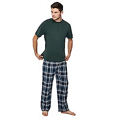 Lounge & Sleep - Green checked pyjama set