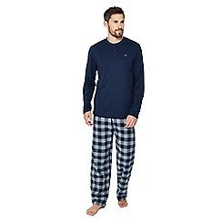 Mantaray - Big and tall blue checked pyjama set