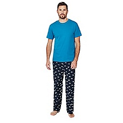 Mantaray - Blue polar bear print pyjama set