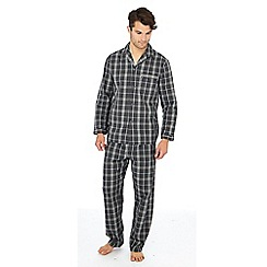 Maine New England - Big and tall grey checked pyjama set