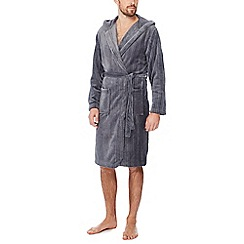 J by Jasper Conran - Grey fleece dressing gown