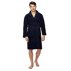 Mantaray - Big and tall navy fleece dressing gown 45dcb0e10cee