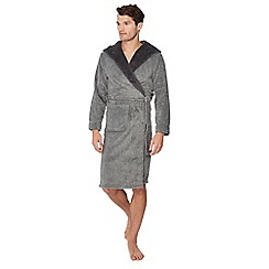 Lounge & Sleep - Grey hooded dressing gown