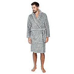 Mantaray - Grey fleece dressing gown