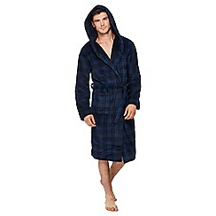 Mantaray - Navy checked dressing gown