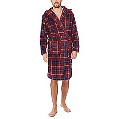 Mantaray - Red checked dressing gown