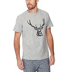 Mantaray - Grey flocked deer t-shirt