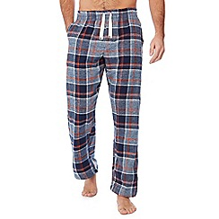 Mantaray - Navy check print pyjama bottoms