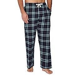 Mantaray - Green checked print pyjama bottoms