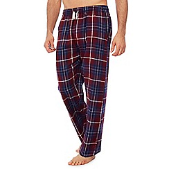 Mantaray - Wine red check print pyjama bottoms