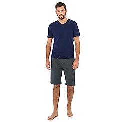 Lounge & Sleep - Navy short sleeve pyjama top