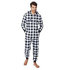 cbd7a13025e0 Lounge   Sleep - Navy checked onesie