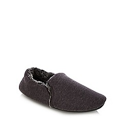 Mantaray - Grey knitted carpet slippers