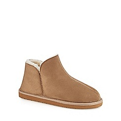 Mantaray - Tan micro suede slipper boots