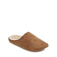 Mantaray - Tan mule slippers