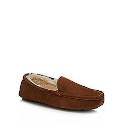 J by Jasper Conran - Tan suede moccasin slippers