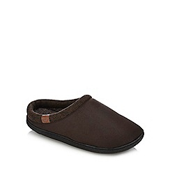 Mantaray - Dark brown mule slippers