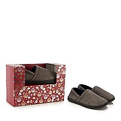 Maine New England - Grey carpet slippers