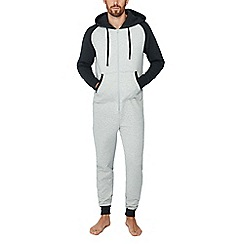 Lounge & Sleep - Grey quilted onesie