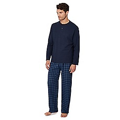 Lounge & Sleep - Navy jersey pyjama set