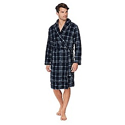 Maine New England - Navy check print dressing gown