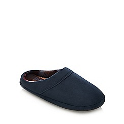 Maine New England - Navy fleece lined mule slippers