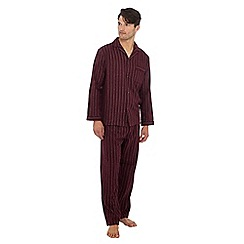 Maine New England - Dark red striped pyjama set