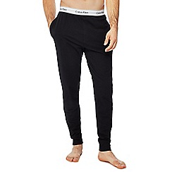 Calvin Klein - Black logo print jogging bottoms