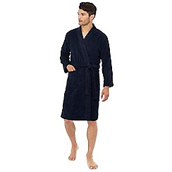 Lounge & Sleep - Navy towelling dressing gown
