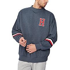 Tommy Hilfiger - Blue embroidered logo sweatshirt