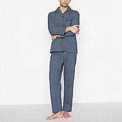 Lounge & Sleep - Navy Geometric Pyjama Set