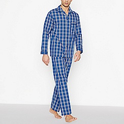 Lounge & Sleep - Navy Checked Pyjama Set