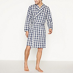 Lounge & Sleep - Grey Gingham Check Dressing Gown