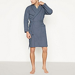 Lounge & Sleep - Navy Gingham Check Dressing Gown