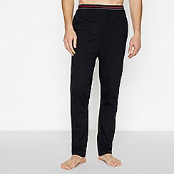Lounge & Sleep - Black Striped Trim Pyjama Bottoms