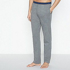 Lounge & Sleep - Grey Striped Trim Pyjama Bottoms