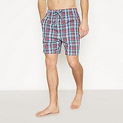 Lounge & Sleep - Red Checked Pyjama Shorts