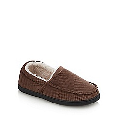 Lounge & Sleep - Beige Carpet Moccasin Slippers