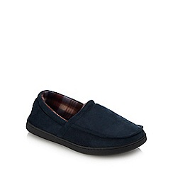 Lounge & Sleep - Navy Moccasin Slippers