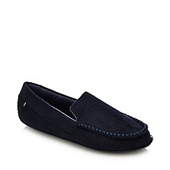 Totes - Navy Driver Moccasin Slippers