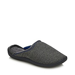 Totes - Dark Grey Waffle Mule Slippers
