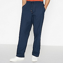 Mantaray - Navy Textured Pyjama Bottoms