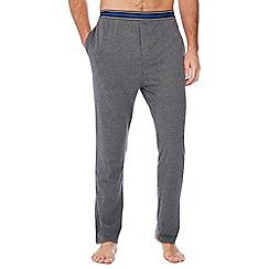 Lounge & Sleep - Grey striped trim pyjama bottoms